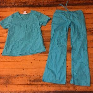 Light blue scrubs!